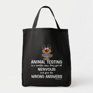 Humour d'expérimentation animale sac en toile épicerie