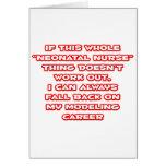 Humour néonatal d'infirmière… modelant la carrière cartes de vœux