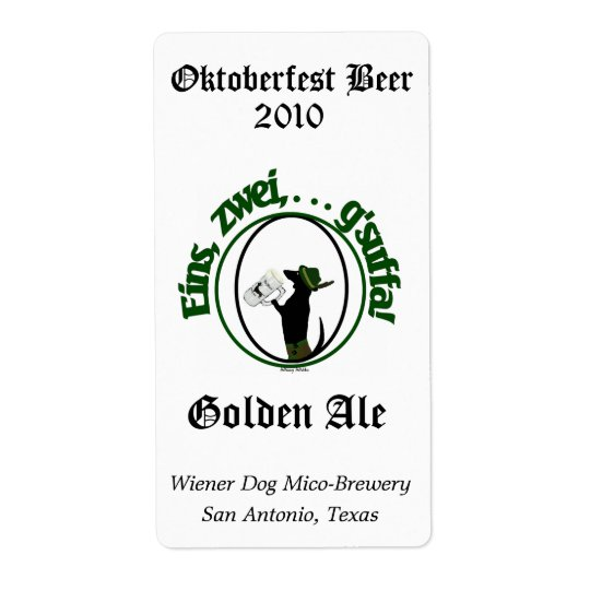 Humour Oktoberfest Home Made Beer Labels