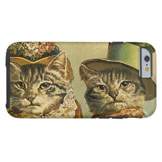 Humour vintage, chats victoriens de marié de jeune coque tough iPhone 6