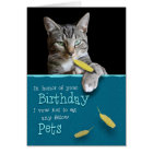 Humourous Birthday Card from the Naughty Cat