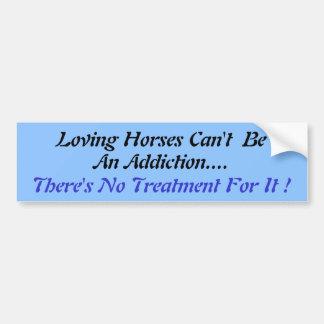 Humourous Horse Lovers Bumper sticker