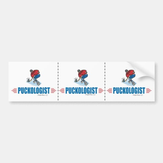 Humourous Ice Hockey Bumper Sticker