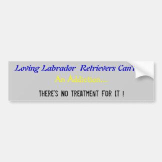 Humourous Labrador Bumper Sticker