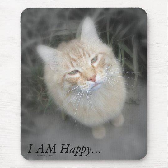 Humourous Orange Cat Mousepad