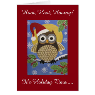 Humourous Owl, Holiday card