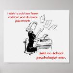 Humourous School Psychologist Poster