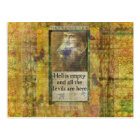 Humourous Shakespeare QUOTE art words Postcard