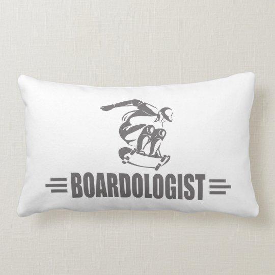 Humourous Skateboarding Lumbar Pillow
