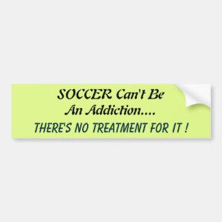 Humourous Soccer bumper Sticker