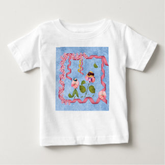 Humourous Sweet Peas Pink & Mauve Flower People Baby T-Shirt