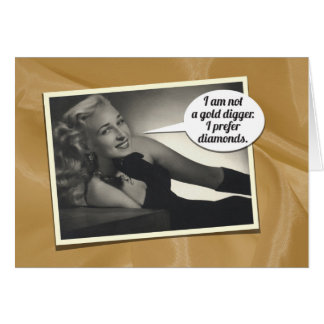 Humourous Vintage 1934's Birthday Gift Card for