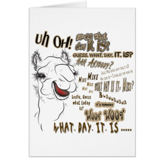 Hump Day Camel Greeting Card