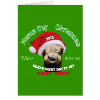 Hump Day Camel Christmas Greeting Card