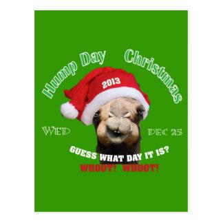 Hump Day Camel Christmas Postcard