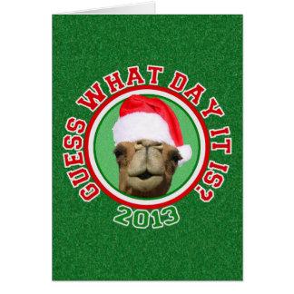 Hump Day Camel Santa Christmas Greeting Cards