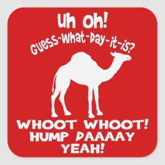 Hump Day Camel Stickers