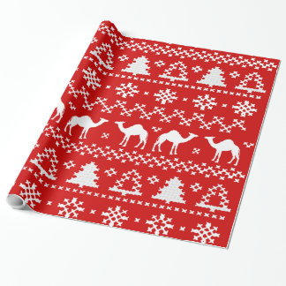Hump Day Camel Ugly Christmas Sweater Wrapping Paper