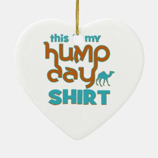 Hump Day Ceramic Heart Ornament