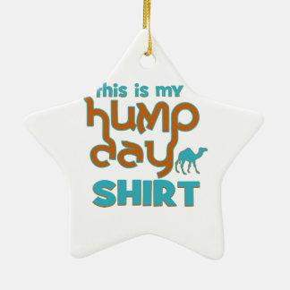 Hump Day Ceramic Star Ornament
