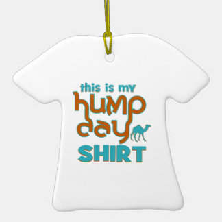 Hump Day Double-Sided T-Shirt Ceramic Christmas Ornament