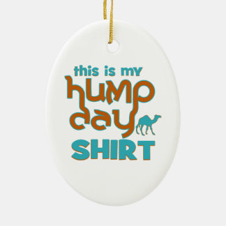 Hump Day Double-Sided Oval Ceramic Christmas Ornament