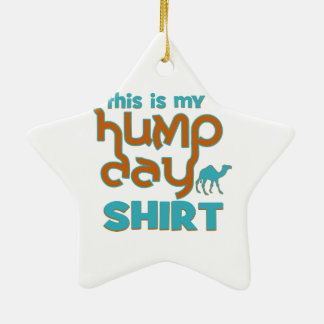 Hump Day Double-Sided Star Ceramic Christmas Ornament
