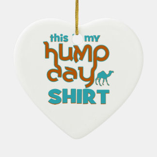 Hump Day Double-Sided Heart Ceramic Christmas Ornament