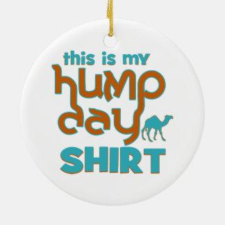 Hump Day Round Ceramic Ornament