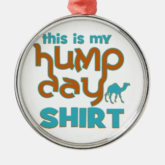 Hump Day Silver-Colored Round Ornament