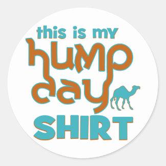 Hump Day Round Stickers