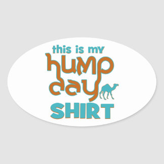 Hump Day Oval Stickers