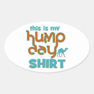 Hump Day Oval Sticker