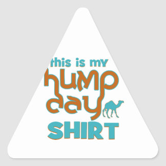 Hump Day Triangle Stickers