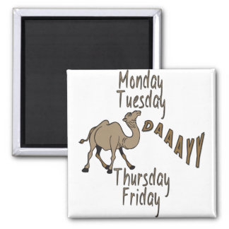 Hump Day Week Days Square Magnet