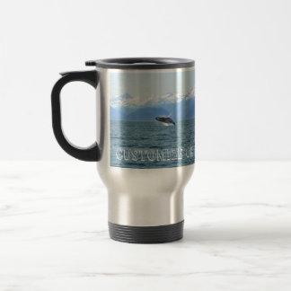 Humpback Acrobat; Customizable Travel Mug