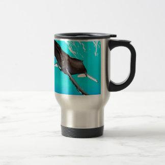 Humpback Diving from the Surface Travel Mug