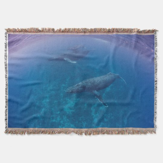 Humpback Planet Throw Blanket