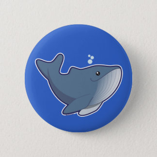Humpback Whale 2 Inch Round Button