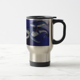 Humpback whale and baby travel mug