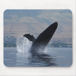 humpback whale breaching mouse pad
