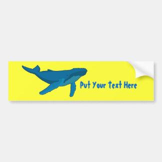 Humpback Whale Bumper Sticker