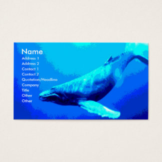 Humpback Whale Business Card