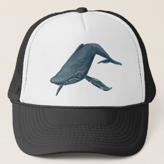 Humpback Whale Painting Trucker Hat