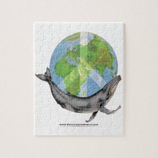Humpback Whale Peace design. Jigsaw Puzzle