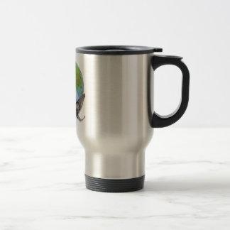Humpback Whale Peace design. Travel Mug