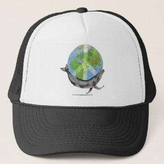 Humpback Whale Peace design. Trucker Hat