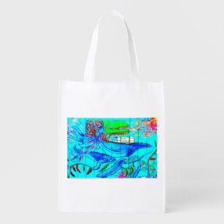 humpback whale reuseable bag