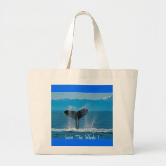 Humpback Whale, Save The Whale ! Large Tote Bag