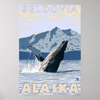 Humpback Whale - Seldovia, Alaska Poster